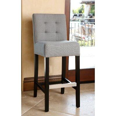Bridgeton 30 Bar Stool Upholstery: Grey
