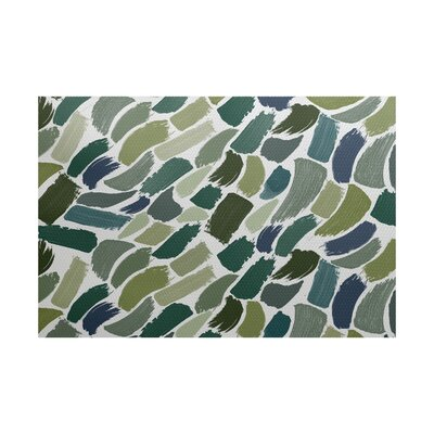 Jennifer Abstract Green/Blue Area Rug Rug Size: 3 x 5