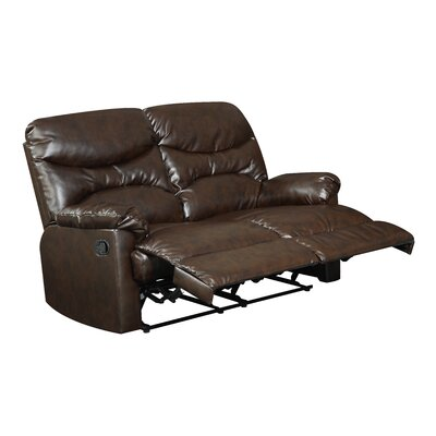 Wollano Double Reclining Loveseat Upholstery: Brown