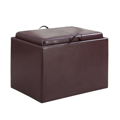 Marla Accent Storage Ottoman Upholstery: Purple