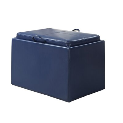 Marla Accent Storage Ottoman Upholstery: Blue