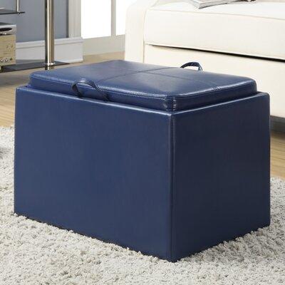 Marla Storage Ottoman Upholstery: Blue