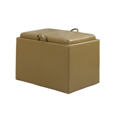 Marla Accent Storage Ottoman Upholstery: Tan