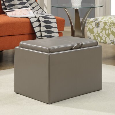 Marla Accent Storage Ottoman Upholstery: Grey