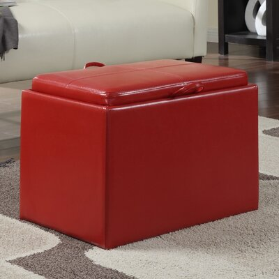 Marla Accent Storage Ottoman Upholstery: Red