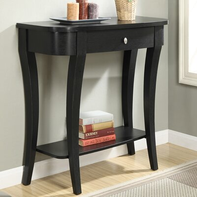 Grovetown Console Table Finish: Black