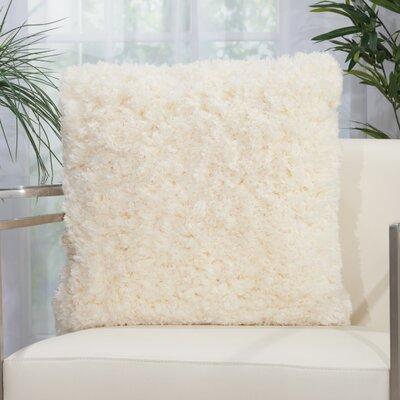 Kurnell Shag Throw Pillow Color: Ivory