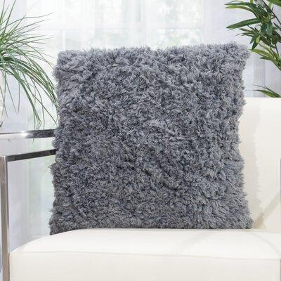 Kurnell Shag Throw Pillow Color: Gray