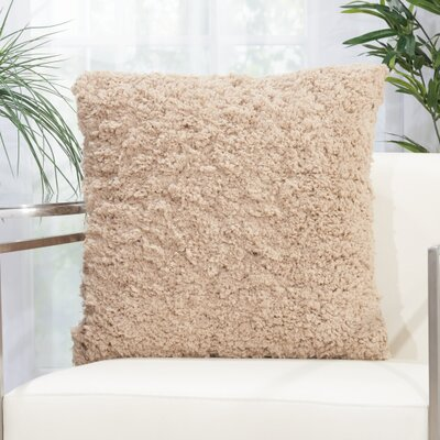 Kurnell Shag Throw Pillow Color: Beige
