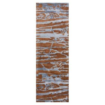 Stahl Sepia/Slate Blue Area Rug Rug Size: Runner 26 x 8