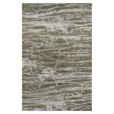 Stahl Light Grey/Mossy Stone Area Rug Rug Size: Rectangle 2 x 3