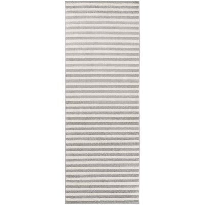 Greer Charcoal Striped Area Rug