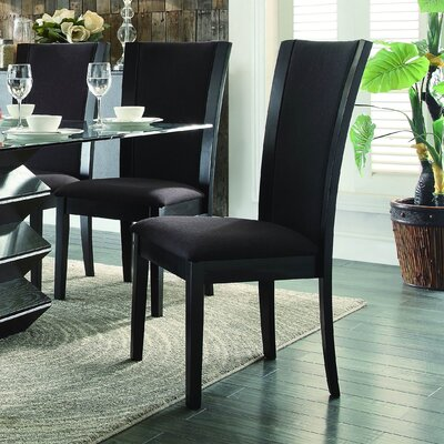 Dycus Side Chair (Set of 2) Side Chair Upholstery: Dark Brown