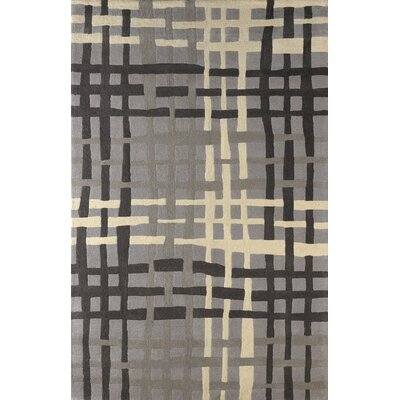 Courtney Hand-Tufted Steel Area Rug Rug Size: 4 x 6