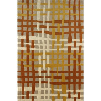Courtney Hand-Tufted Sorrel Area Rug Rug Size: 6 x 9