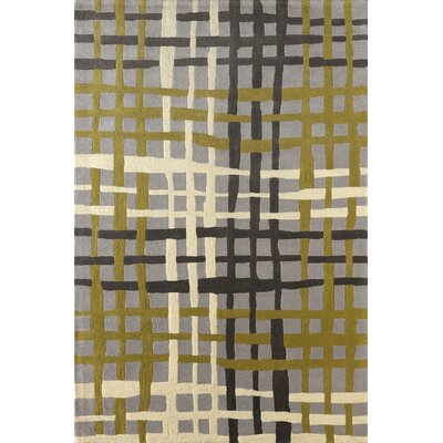 Courtney Hand-Tufted Pear/Green Area Rug Rug Size: 4 x 6