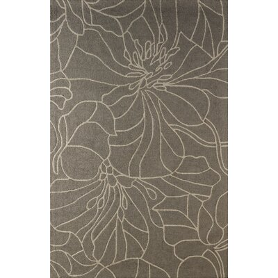 Gina Hand-Tufted Soot Area Rug Rug Size: 4 x 6