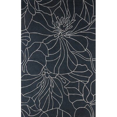 Gina Hand-Tufted Navy Area Rug Rug Size: 4 x 6
