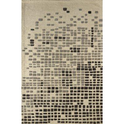 Clara Hand Tufted Steel Area Rug Rug Size: 6 x 9
