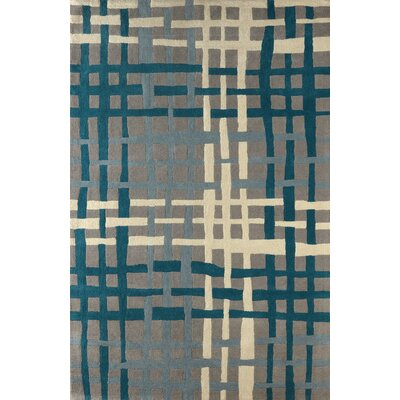 Courtney Hand Tufted Lapis Area Rug Rug Size: Rectangle 6 x 9