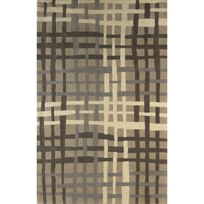 Courtney Hand Tufted Soot Area Rug Rug Size: 5 x 8