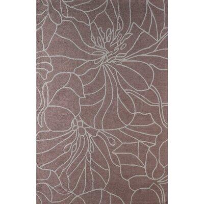 Gina Hand-Tufted Mauve Area Rug Rug Size: 8 x 10