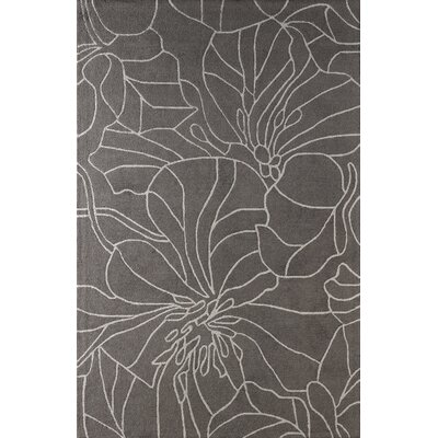Gina Hand-Tufted Steel Area Rug Rug Size: 6 x 9