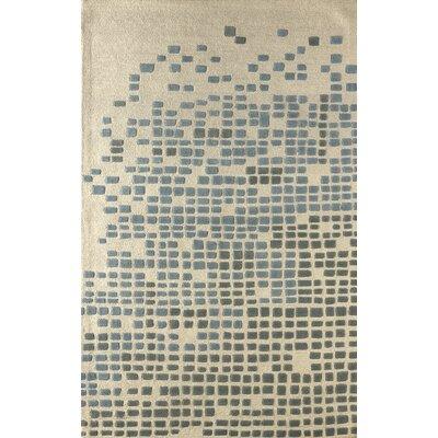 Clara Hand-Tufted Sky Area Rug Rug Size: 8 x 10