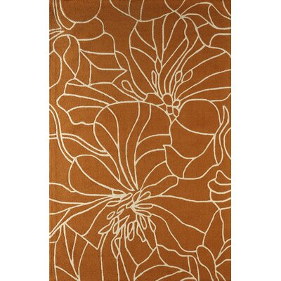 Gina Hand-Tufted Sorrel/Ivory Area Rug Rug Size: Rectangle 6 x 9