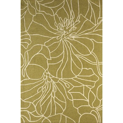 Gina Hand-Tufted Pear/Ivory Area Rug Rug Size: 4 x 6
