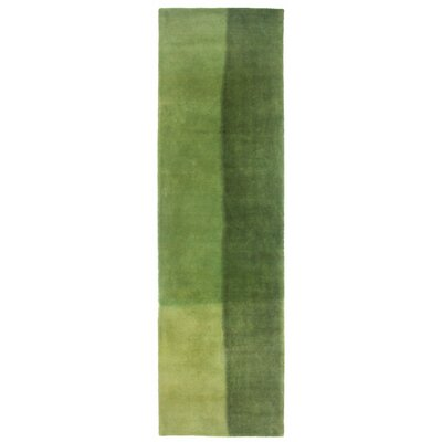 Vicente Watercolors Hand-Tufted Green Indoor/Outdoor Area Rug