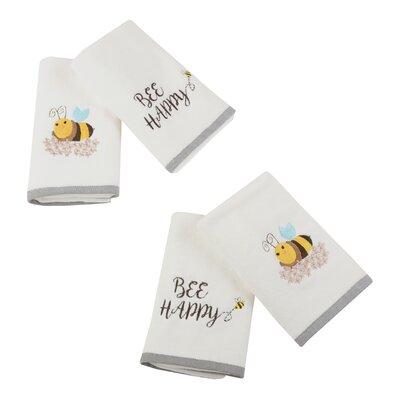 Bee Happy 4 Piece Hand Towel Set