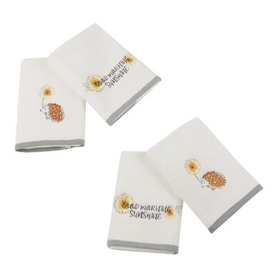 Sunshinin Day Hand 4 Piece Towel Set