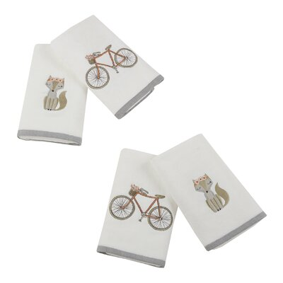 Floral Fox Hand 4 Piece Towel Set