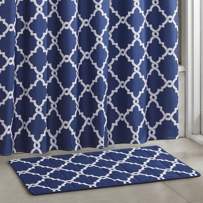 Winard Bath Rugs Color: Navy, Size: 20 W x 30 L