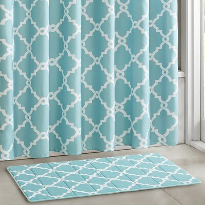 Winard Bath Rugs Color: Aqua, Size: 24 W x 40 L