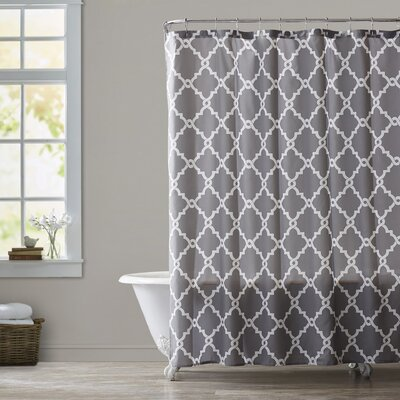 Alta Microfiber Shower Curtain Color: Gray, Size: 96 H x 72 W