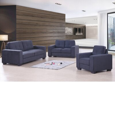 Aidy 3 Piece Living Room Set