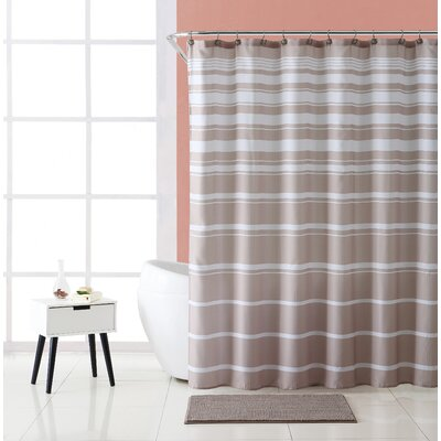 Charleena Striped Shower Curtain Set