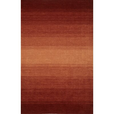 Louisa Hand Woven Wool Paprika Area Rug Rug Size: Rectangle 79 x 99