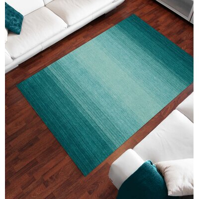 Louisa Teal Area Rug Rug Size: Rectangle 5 x 73