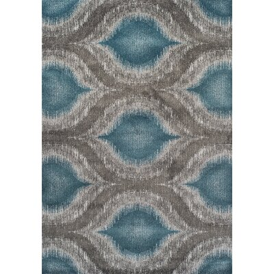 Ventnor Teal Area Rug Rug Size: Rectangle 53 x 77