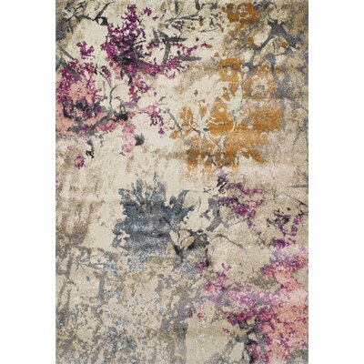 Allegra Ivory Area Rug Rug Size: Rectangle 53 x 77