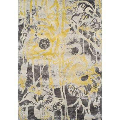 Ventnor Lemon Area Rug Rug Size: 96 x 132