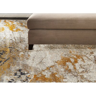 Allegra Tangerine Area Rug Rug Size: Rectangle 53 x 77