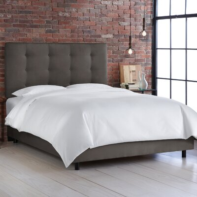 Arielle Full/Double Upholstered Panel Bed Size: Twin, Color: Premier Charcoal