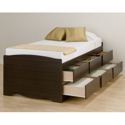 Wanda Twin Platform Bed with Storage Finish: Espresso