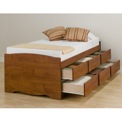 Wanda Twin Platform Bed with Storage Finish: Cherry