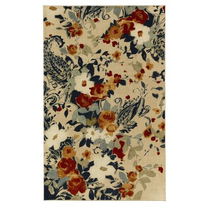 Harold Ivory/Blue Area Rug Rug Size: Rectangle 76 x 10