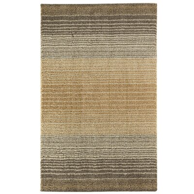 Brano Stripe Shag Birch Beige Area Rug Rug Size: Rectangle 8 x 10